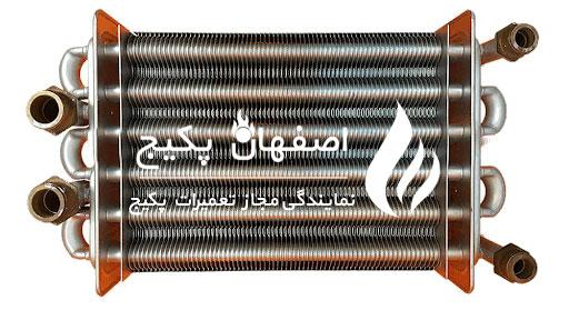 بررسی و رسوب گیر مبدل پکیج - تعمیر پکیج در اصفهان